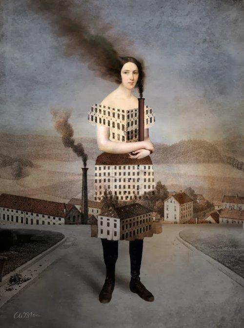 Catrin Welz-Stein  ilustrações surreais estilo vintage fantasia photoshop sonhos oníricos