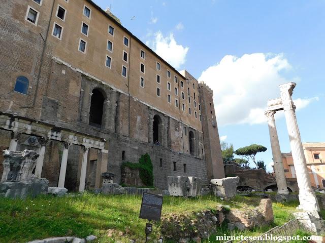 Римский Форум - Храм Веспасиана и Табулариум
