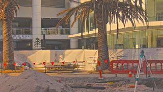Light Rail Construction April 2013 Surfers Paradise Blvd