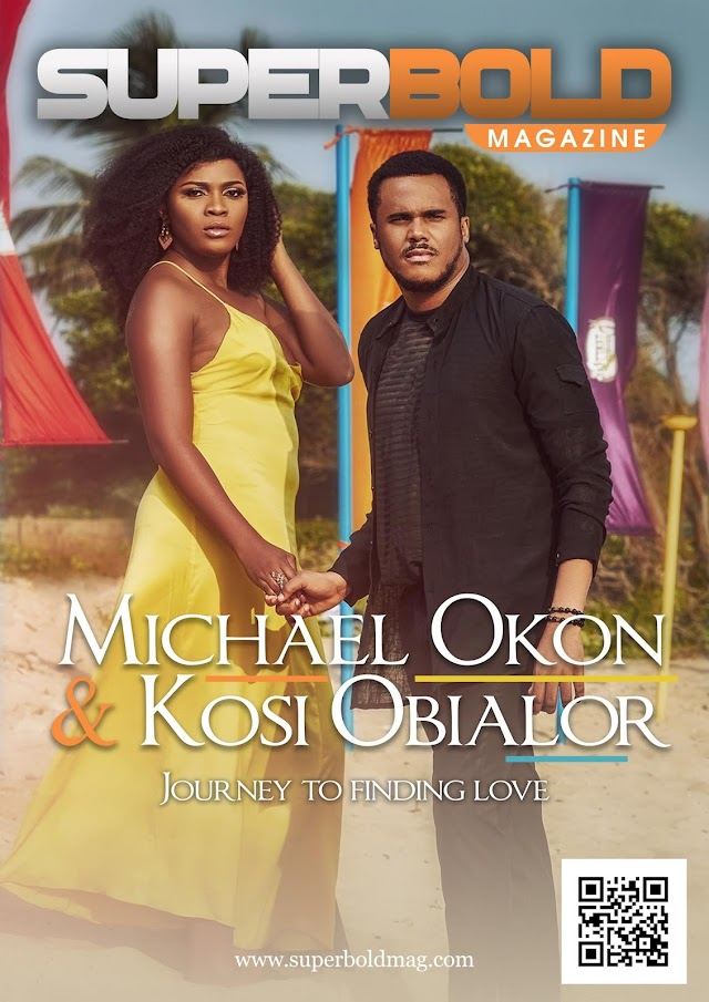 Nollywood Actor, Michael Okon and his wife to be, Kosi Obialor stuns on the cover of SuperBold Magazine