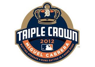 Triple Corona de Miguel Cabrera Logo. Primer jugador latinoamericano en lograr la Triple Corona del béisbol de Grandes Ligas.