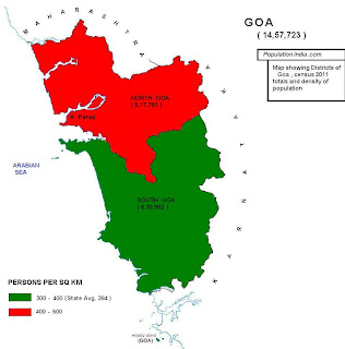 population census of goa 2011 district map