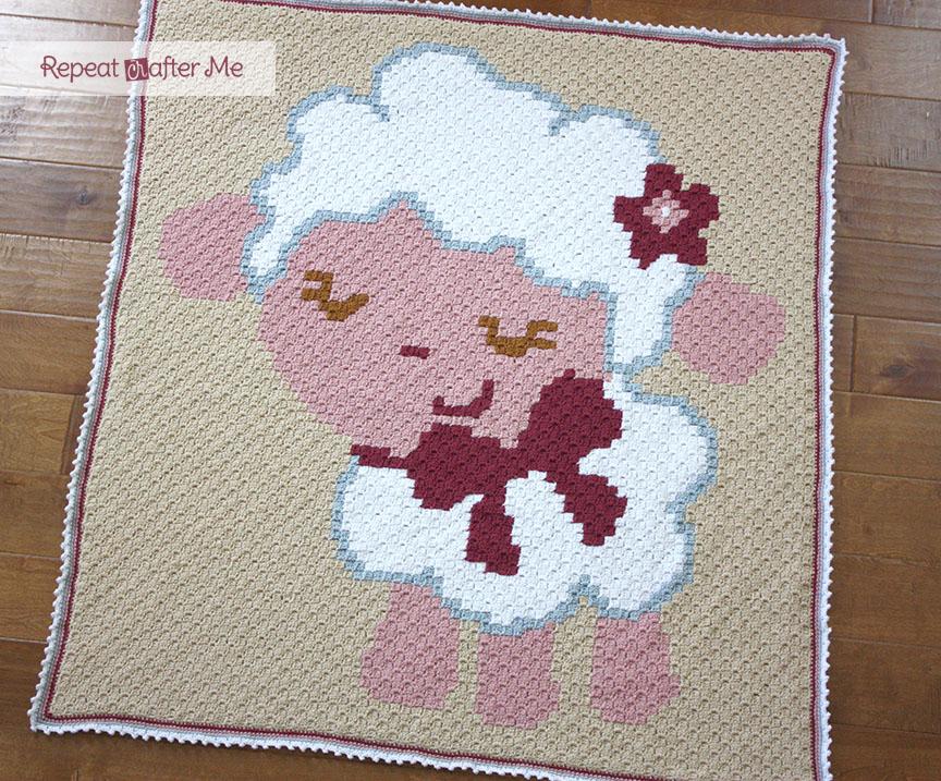 Crochet Corner To Corner C2c Baby Sheep Graphgan Repeat