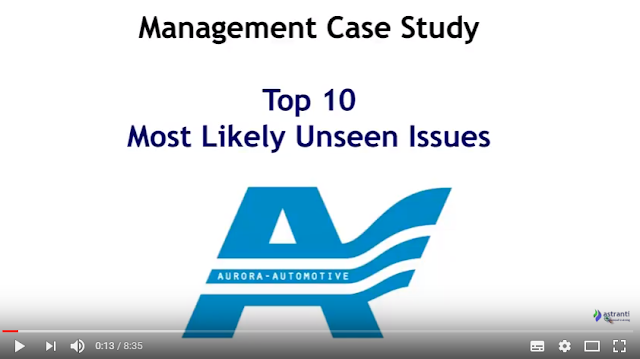 Top 10 Issues for MCS August 2017 - CIMA Management Case Study - Aurora Automotive