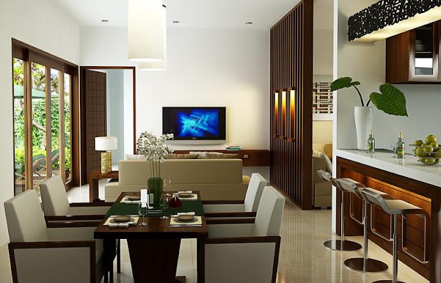 Contoh gambar 2 ruang makan rumah minimalis modern dengan biaya murah