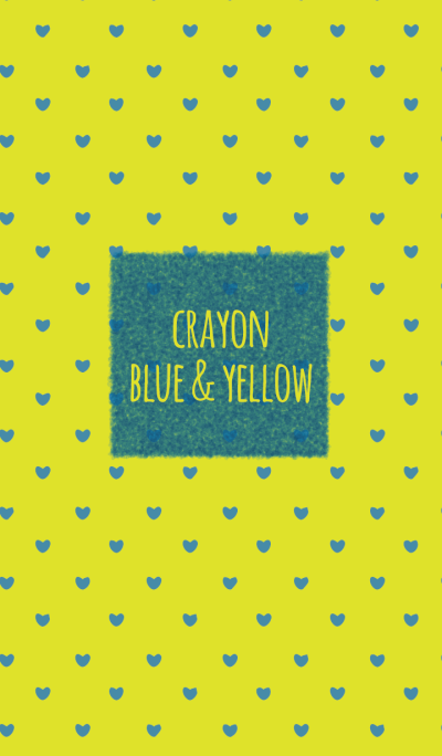 Crayon Blue & Yellow / Heart