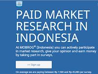 Cara Menghasilkan Uang dari Internet Dengan Mengikuti Survey Online Mobrog