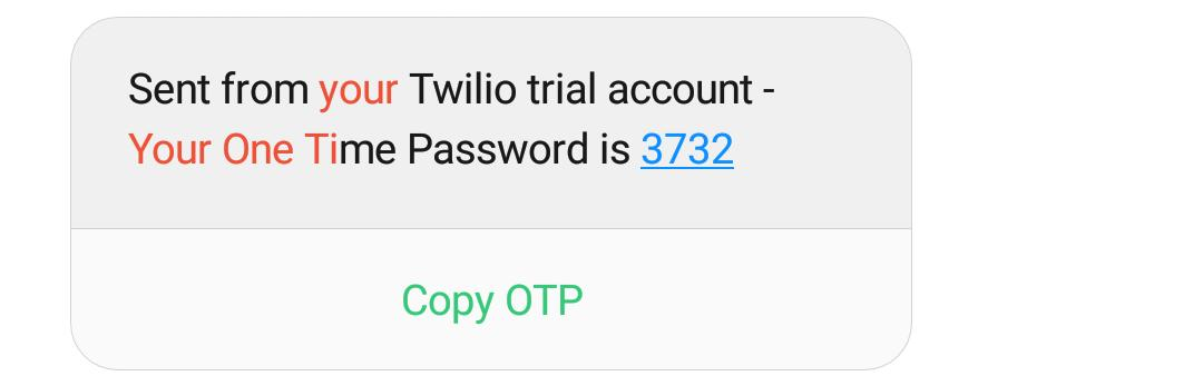 Implementing OTP in PHP using Twilio