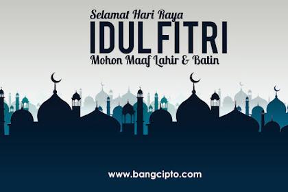 Kumpulan Kata-kata Ucapan Selamat Hari Raya Idul Fitri 1440 H 2019