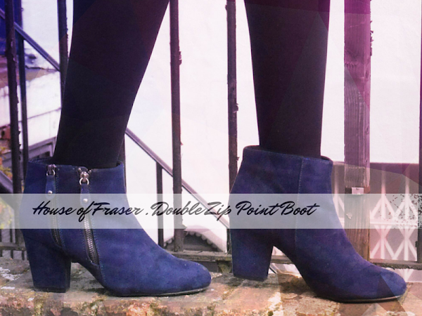 FASHION| HOUSE OF FRASER BLUE SUEDE ANKLE BOOTS