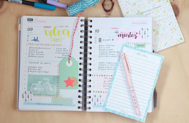Echa un ojo a mi agenda y coge ideas para decorarla