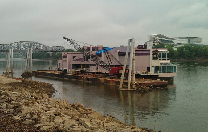 Jeff Ruby S Waterfront Spring 2017 Temporarily Moored At The Former Site Of Covington Landing