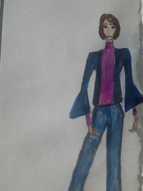 #fashionillustration #moda #watercolour #pencildrawing