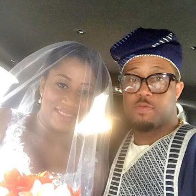 Pics: Actor Mike Ezuruonye's look-alike sister weds