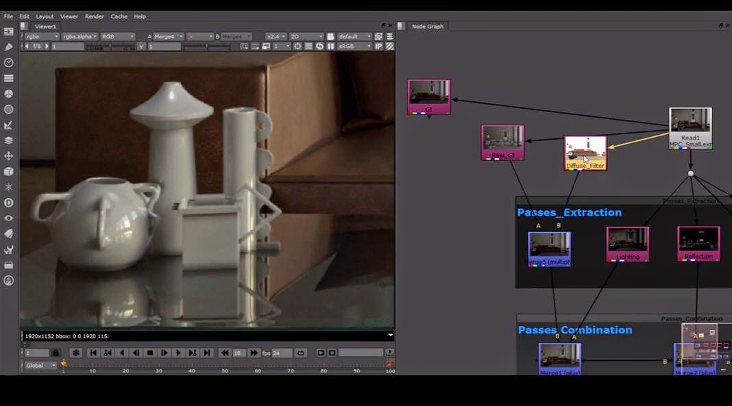 Vray Render Elements to Multipass Compositing in Nuke | CG