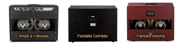 Pantallas Abiertas y Cerradas para Amplificador de Guitarra Eléctrica