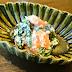 Kaki to shungiku no shiraae / persimmon and garland chrysanthemum in tofu dressing