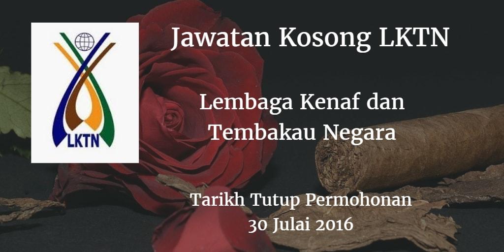 Jawatan Kosong LKTN 30 Julai 2016