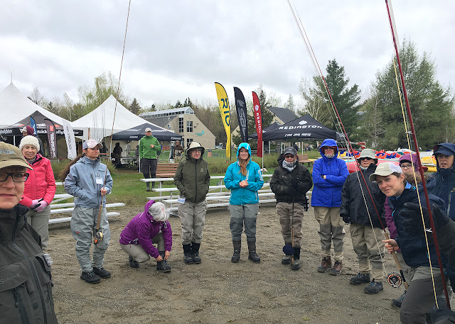 The ladies only class taught by Sabrina Barnes, Forum Spey Sherbrooke, Quebec