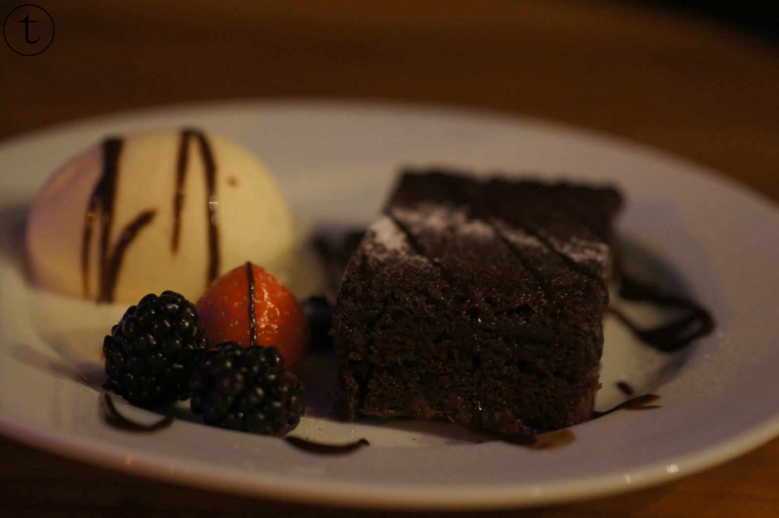 brownie at black and blue london