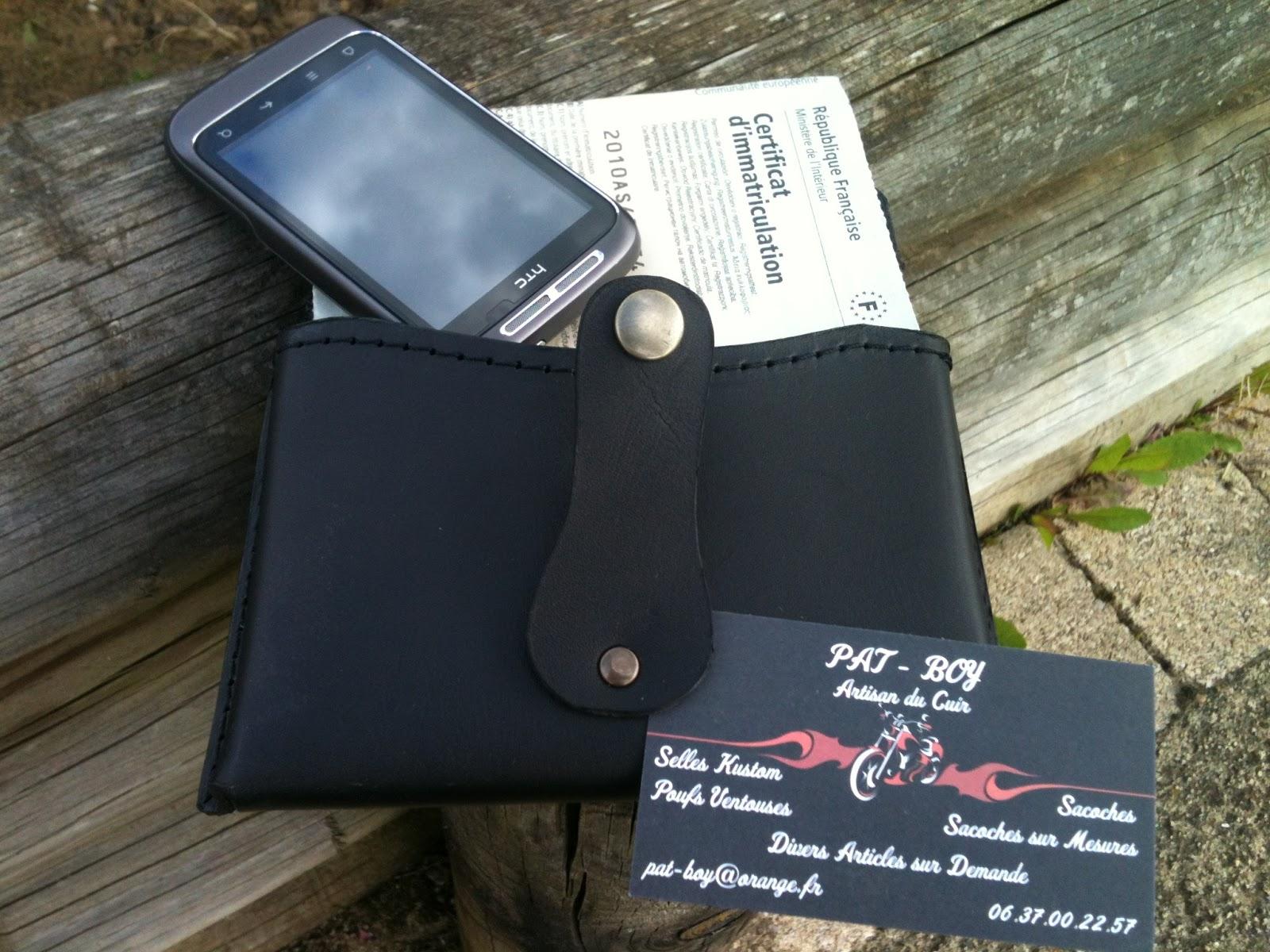 pat boy artisan du cuir sacoche carte grise tel portable passant ceinture 35 euros. Black Bedroom Furniture Sets. Home Design Ideas