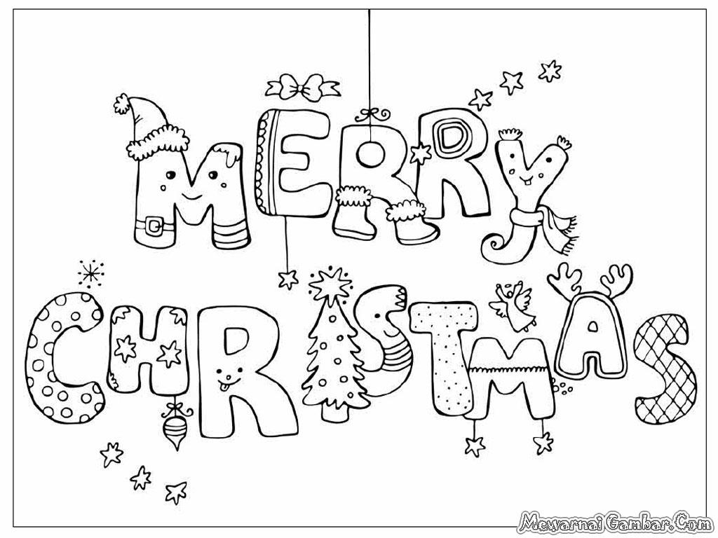 Mewarnai Gambar Natal