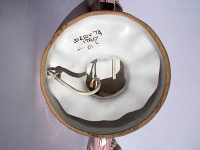 Deruta - doppiere di maiolica - anni '60 - complementi d'arredo