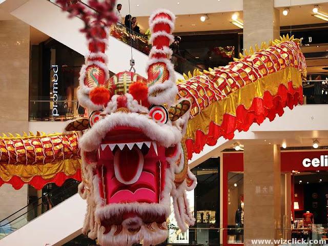 Dragon head of Pavilion Kuala Lumpur