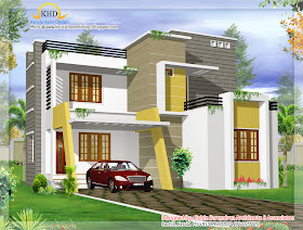 Modern Contemporary Villa design - 139 Sq M (1500 Sq. Ft) - January 2012