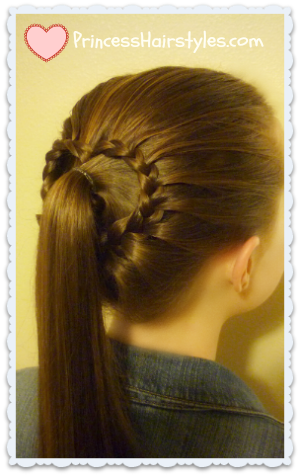 Valentine's Style, lace braid heart ponytail