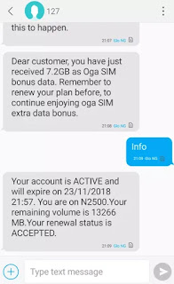 Glo oga sim data bonus