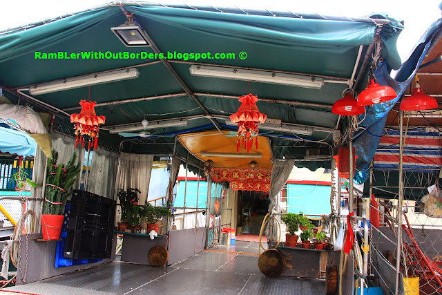 Entry way to the houseboat above, Aberdeen Promenade, Hong Kong