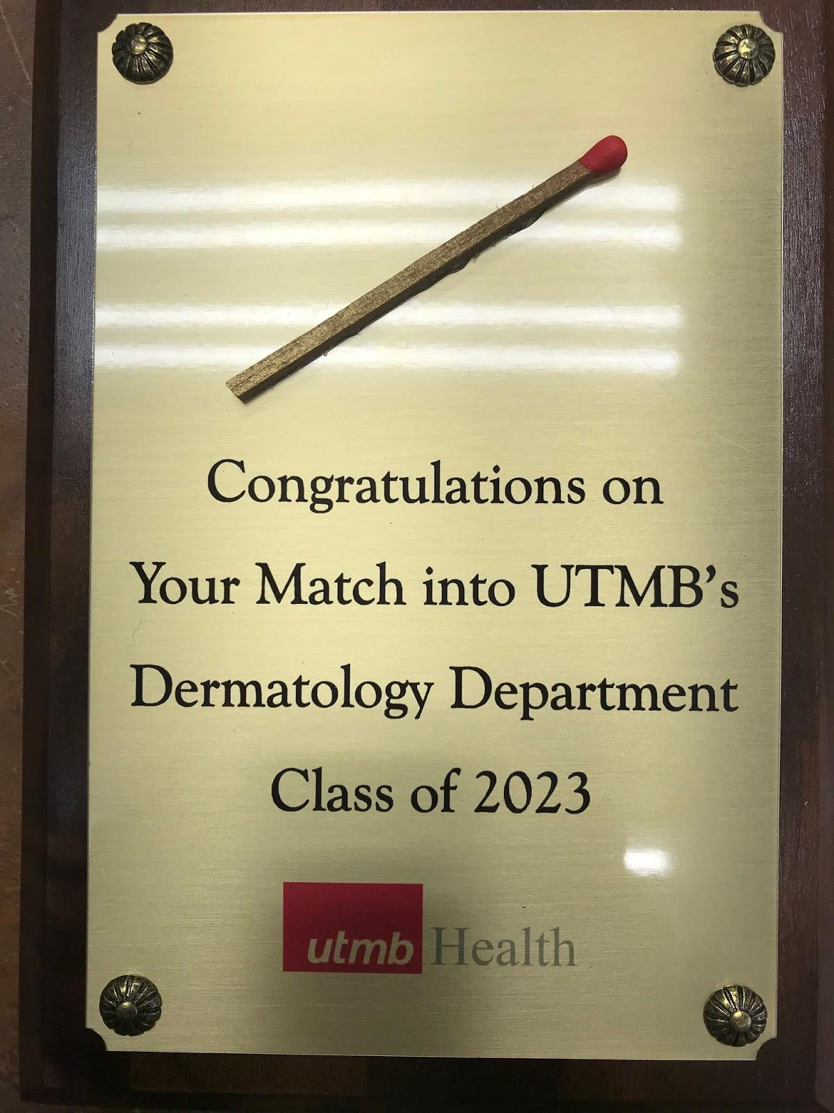 Utmb Match List 2020.Utmb Dermatology Interest Group