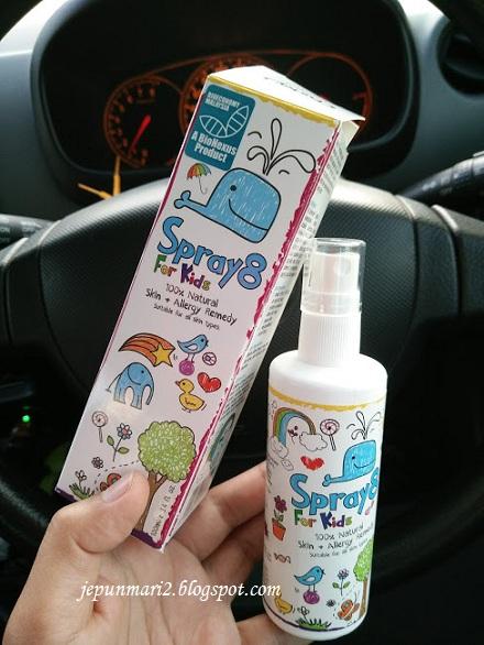 Spray8 for Kids Skin, merawat kulit sensitif dan Alergi