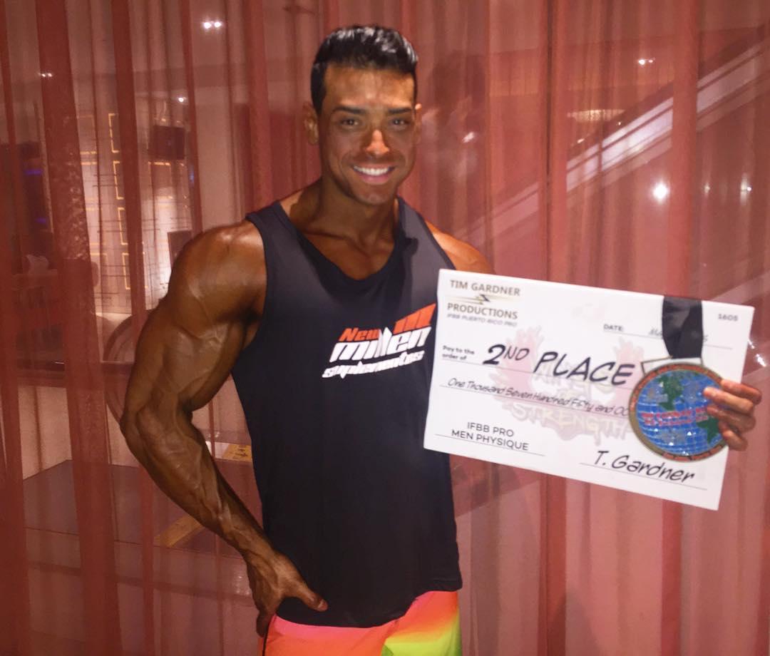 Felipe Franco conquista segundo lugar e fatura prêmio em dinheiro. Foto: Arquivo pessoal
