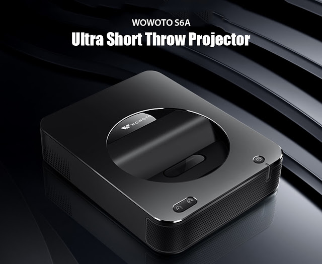 The New Wowoto S6A Ultra Short Throw Projector (1000 lumens, LED lamp, dual-band WiFi, 5000mAh built-in Lithium Battery)
