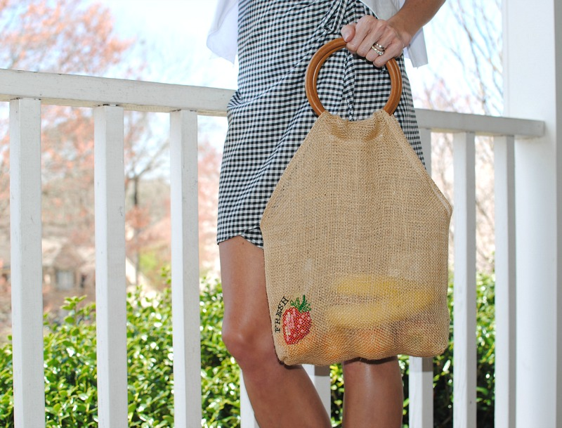 DIY Burlap Market Bag