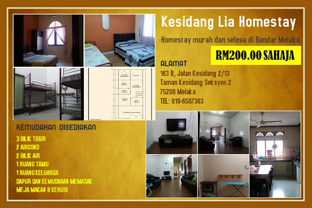 Homestay di Bandar Melaka
