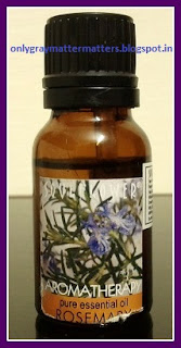 Rosemary essential oil for hair