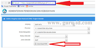 Cara Cek Online Hasil UNBK SD, SMP, SMA, SMK