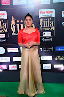 Samyukta Hamod in Red Crop top Brown Skirt at IIFA Utsavam Awards 004.JPG
