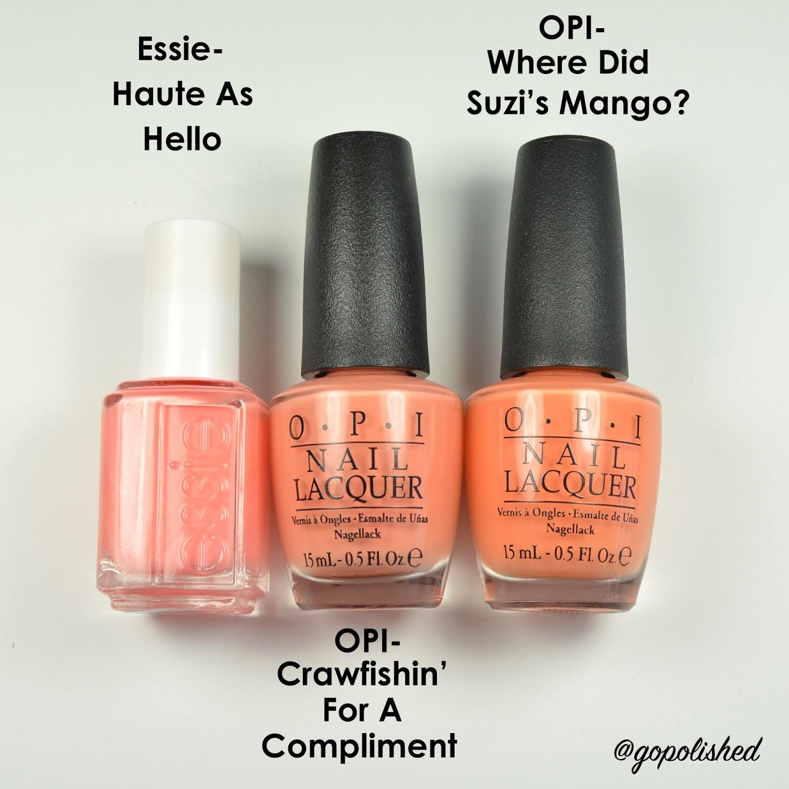 Go Polished: OPI New Orlean Comparisons