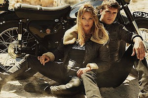 Biker show: Kate Moss in advertising Matchless