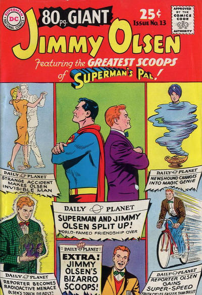 Episode #385 Part I: Superman Family Comic Book Cover Dated August 1965: 80 Page Giant #13!