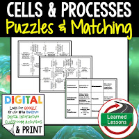 Cells, Life Science Puzzles, Life Science Digital Puzzles, Life  Science Google Classroom, Vocabulary, Test Prep, Unit Review