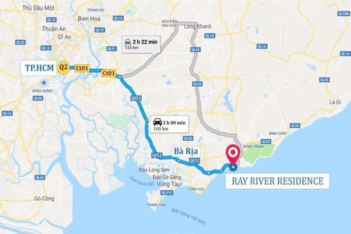 Vị trí dự án Ray River Residence