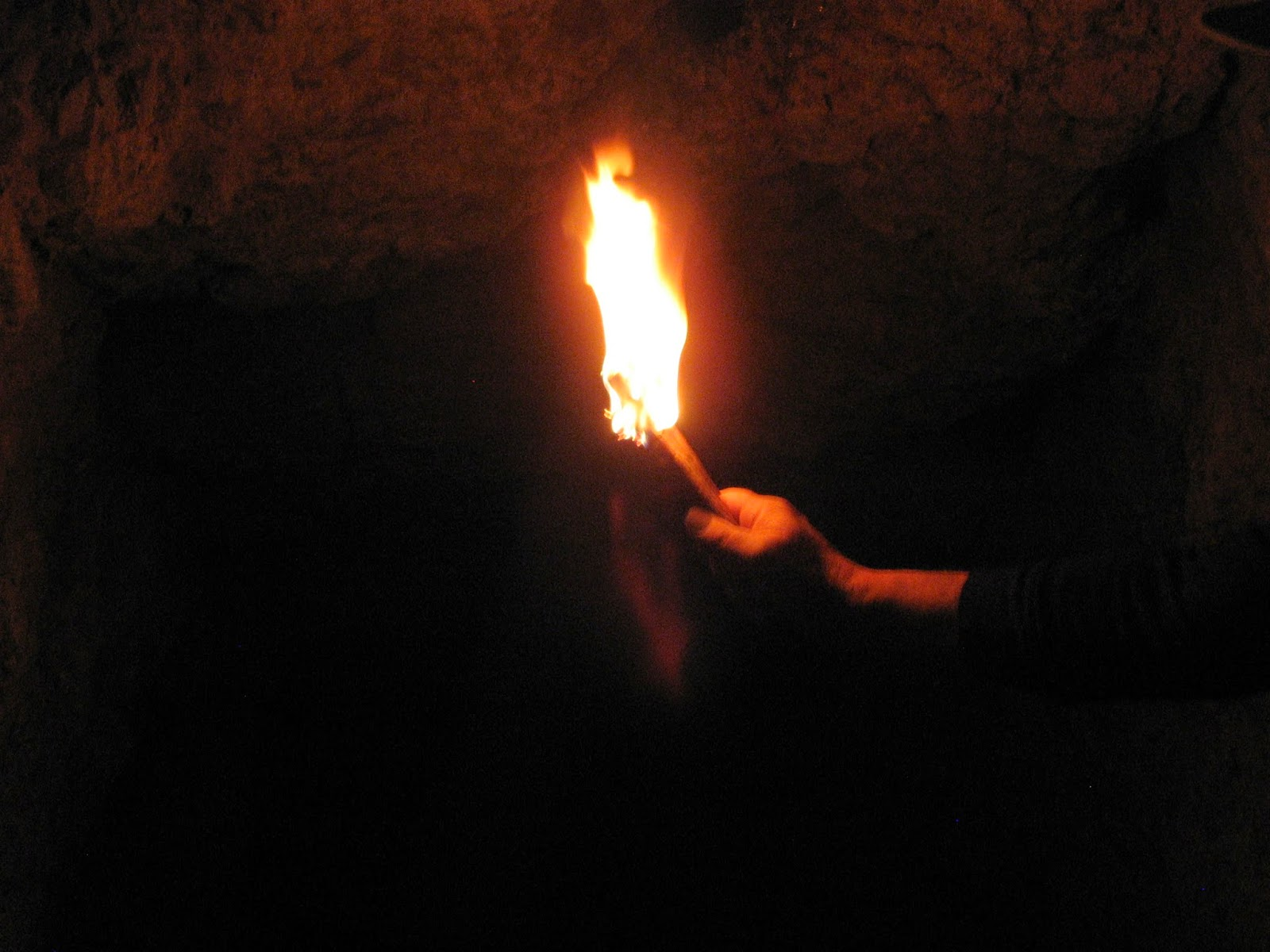 Rocky mountain bushcraft shot show 2014 first impression review -  A Douglas Fir Pitchwood Torch Burns Furiously Illuminating The Walls Of An Old Mining Cave High In The Rocky Mountains 2011 Rocky Mountain Bushcraft