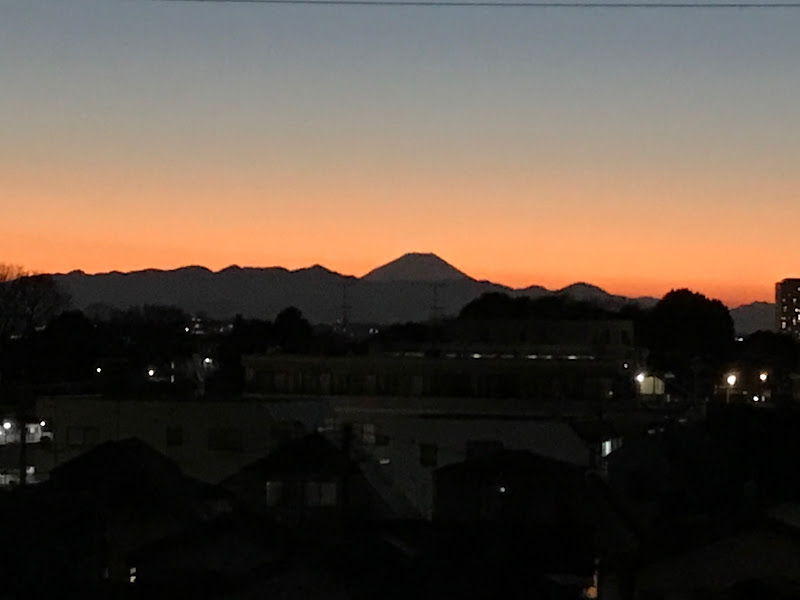 Good bye 2016! 富士山と夕焼け。