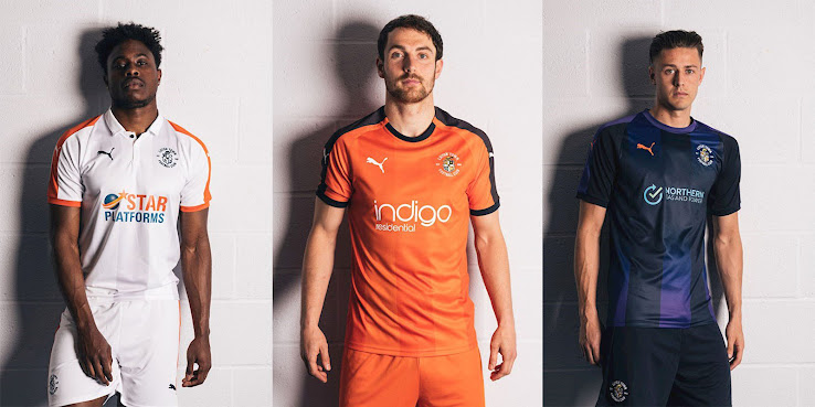 English club Luton Town which successfully promoted to League One presented  their new Home 20de7f75b