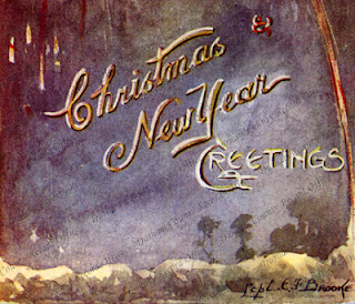 Crop from 34th Division's Christmas card, 1916 (D/DLI 12/5/3/2)